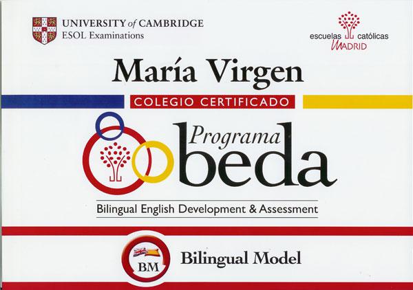 Colegio Bilingue Madrid Maria Virgen - BEDA