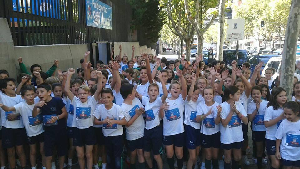 Carrera solidaria vuelta al cole leucemia, colegio maría virgen, chamartín, concertado, bilingüe
