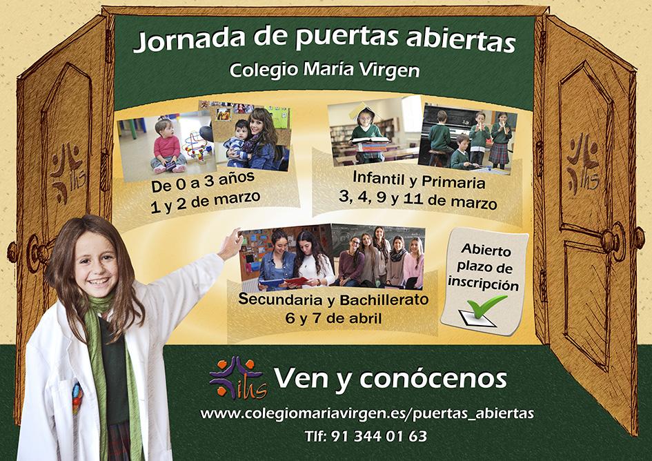 Puertas abiertas Colegio concertado María Virgen Chamartín