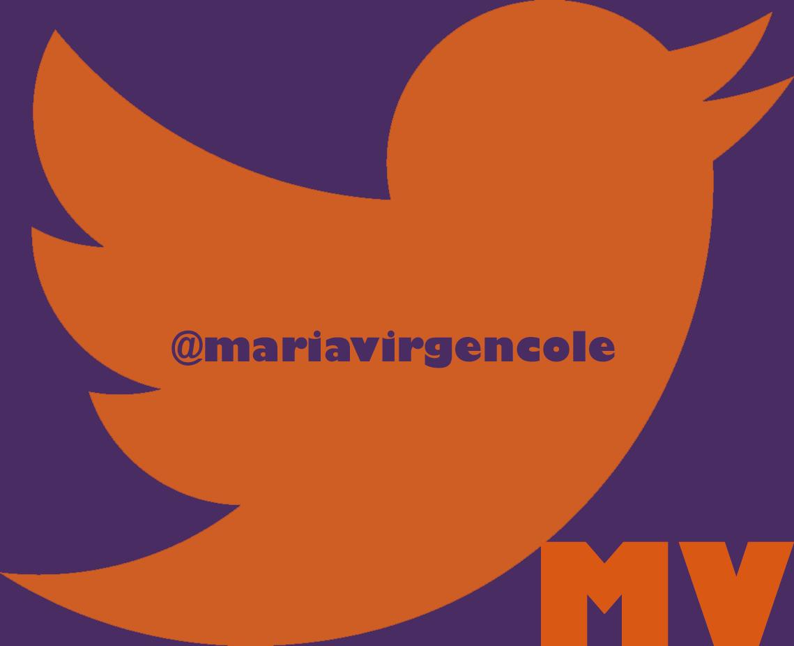twitter MV, Colegio María Virgen, redes sociales educativas, escuelas on line,