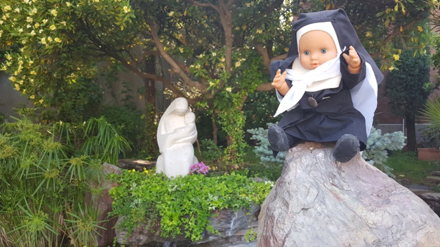 Virgen acogida madre candida, colegio María Virgen, MV, Chamartín, Madrid