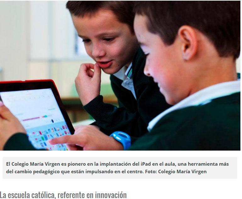 Premio Mejor Proyecto TIC Colegio concertado María Virgen Madrid