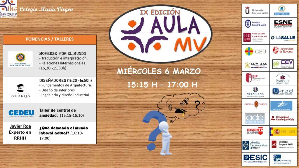 AulaMv IX edicion colegio maria virgen madrid jesuitinas hijas de jesus concertado bilingue feria aula