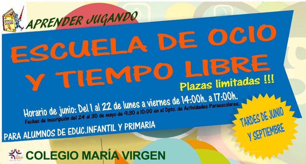 Colegio María Virgen, horario ampliado junio septiembre, actividad extraescolar, verano, chamartín, concertado, hijas de Jesús, MV