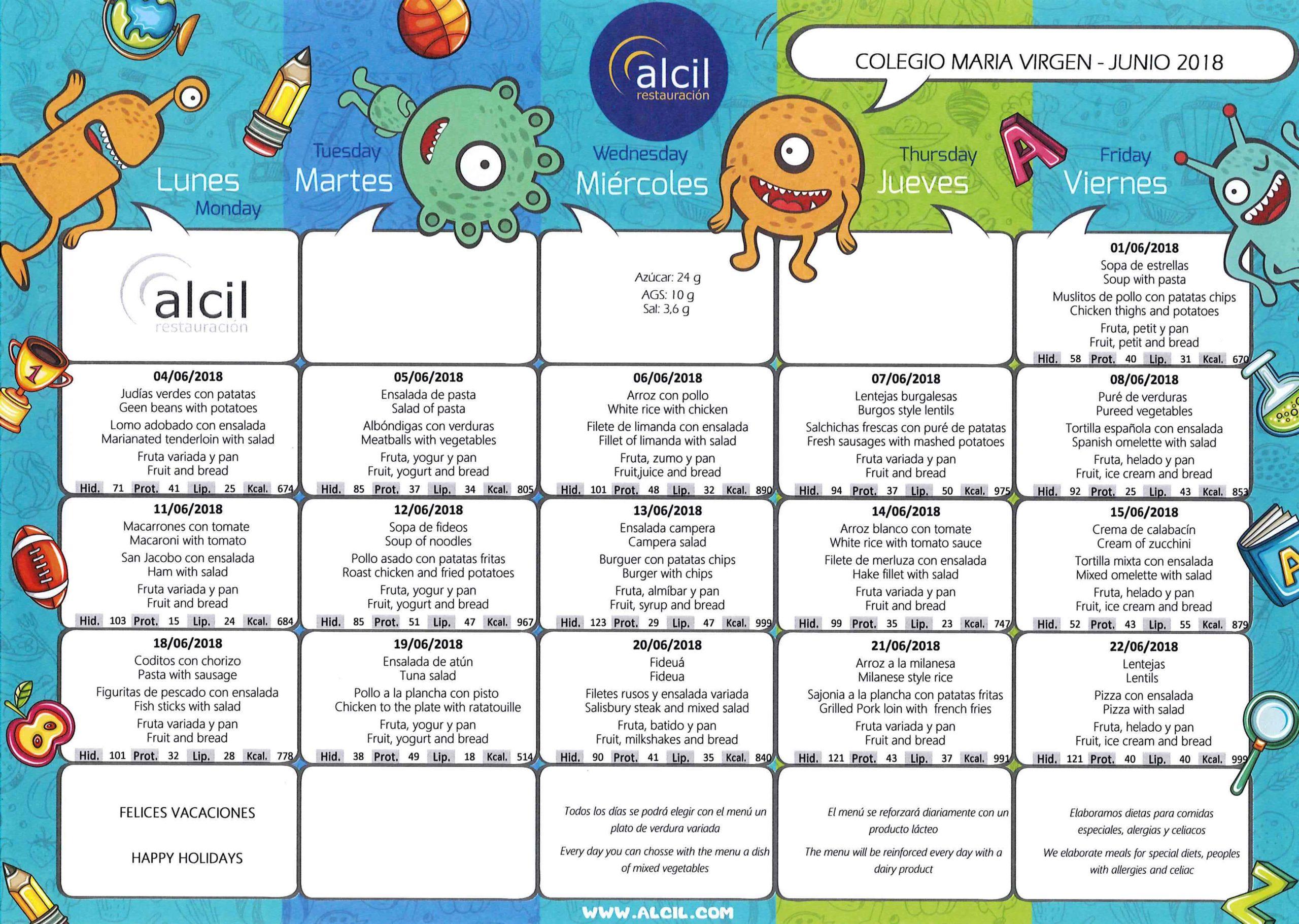 menu escolar junio chamartín maria virgen jesuitinas bilingüe